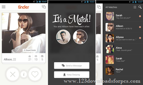Tinder 2018 For PC Download Free For Windows & Mac