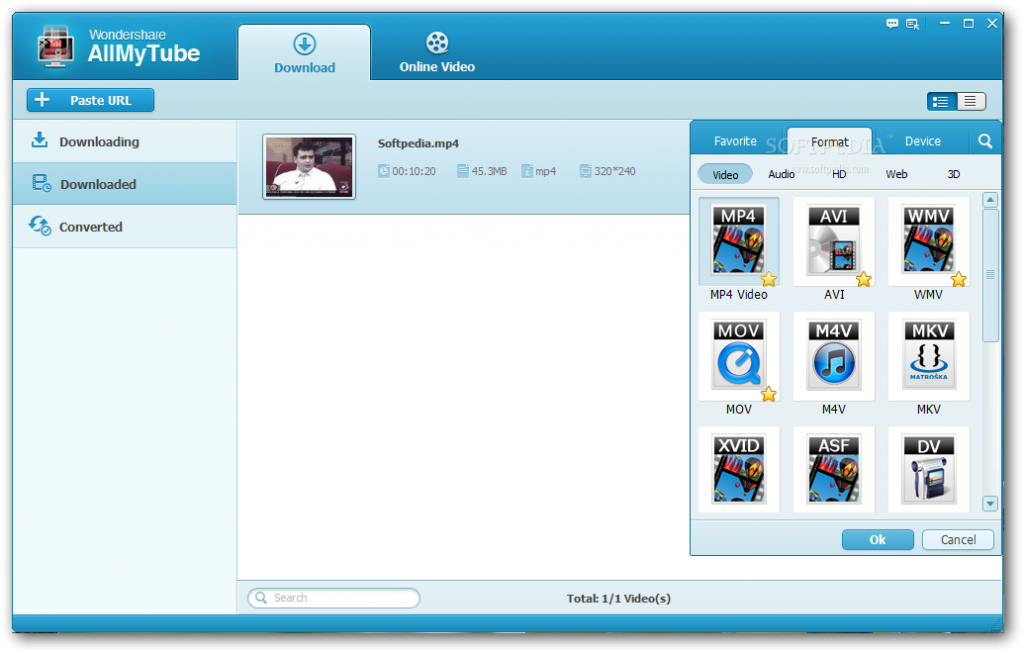 Wondershare AllMyTube 5.7.3 Crack & Serial Key 2018 Download