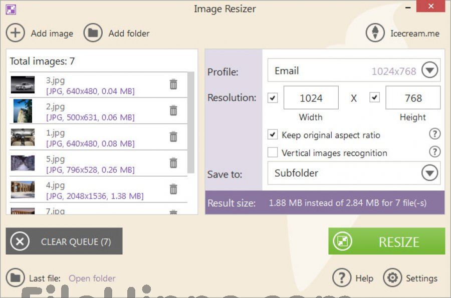 IceCream Image Resizer 1.62 Crack & Serial Key Download