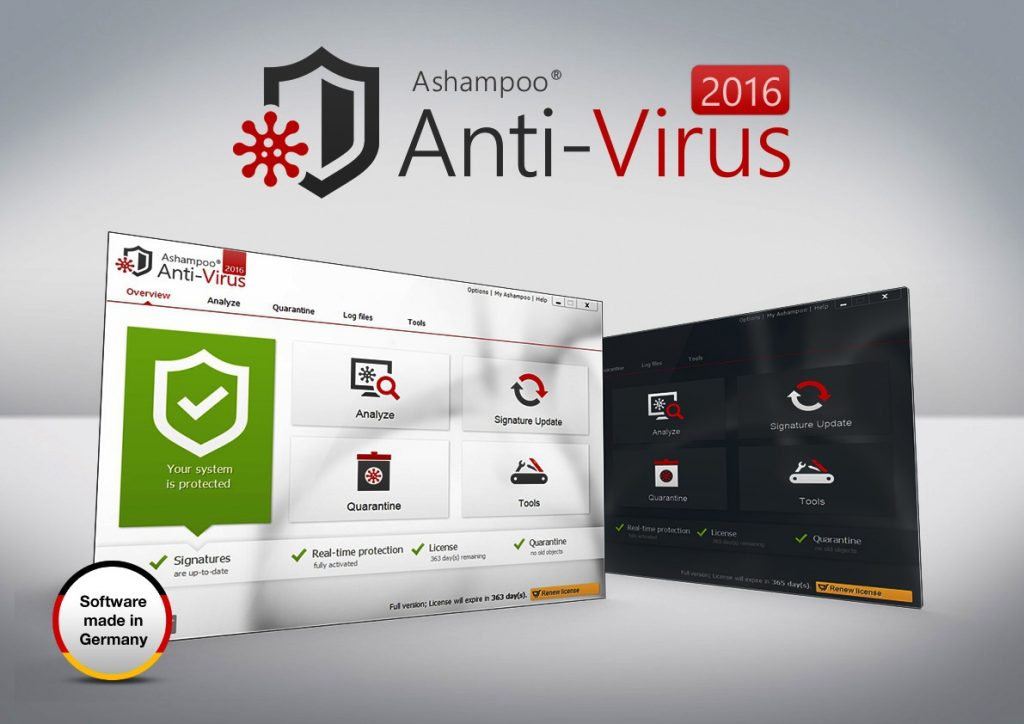 Ashampoo Antivirus 2016 Crack + License Key Full Version