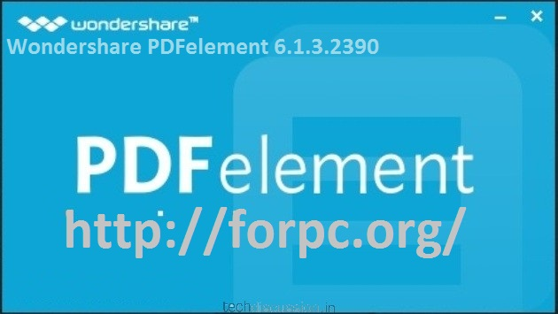 Wondershare PDFelement 6.1.3.2390 2018 Crack + Registration Code Download