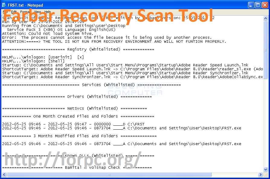 Farbar Recovery Scan Tool 27.01.2018 Download [Windows + Mac]