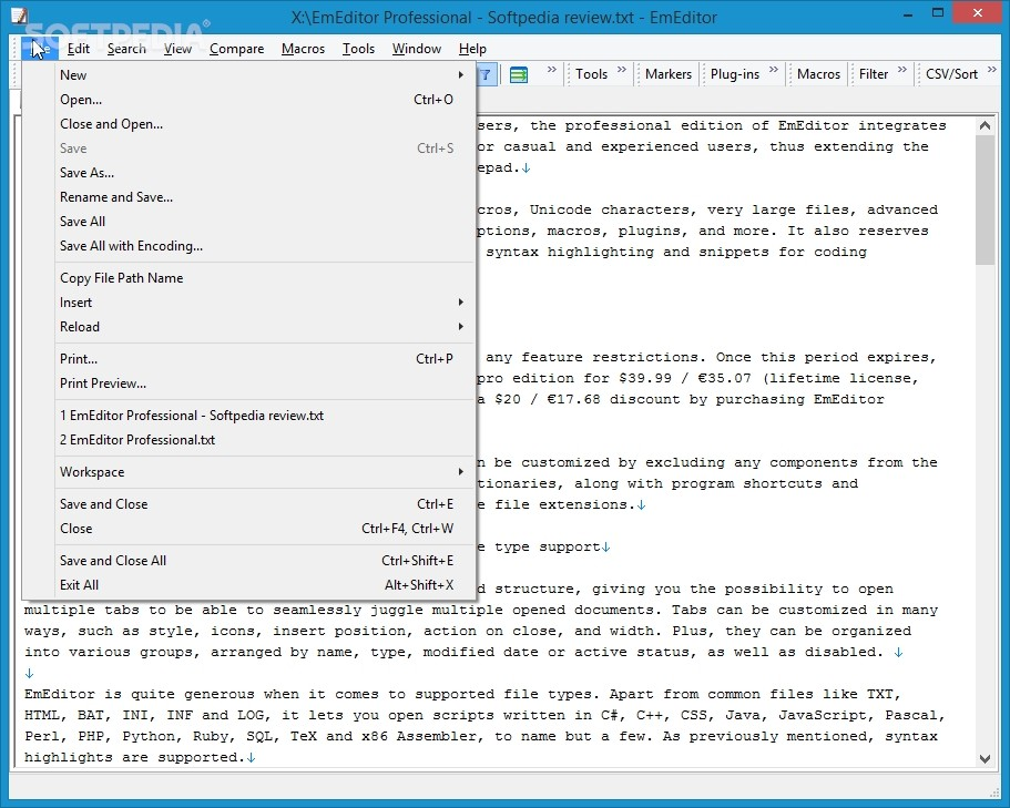 EmEditor Professional 17.1.0 Crack & Portable Download With Keys